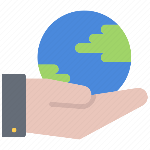 Eco, ecology, green, hand, nature, planet, support icon - Download on Iconfinder
