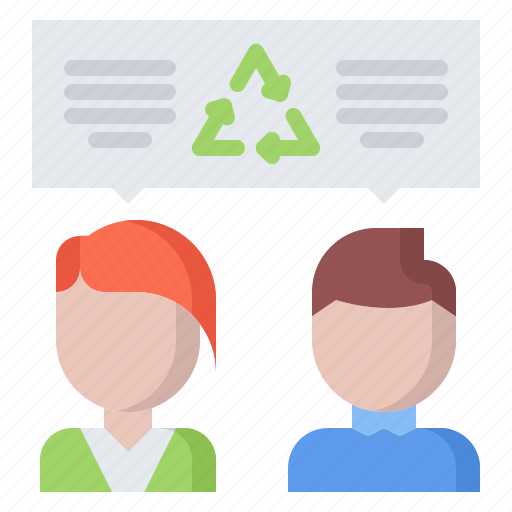 dialogue, eco, ecology, green, nature, recycling, talk icon