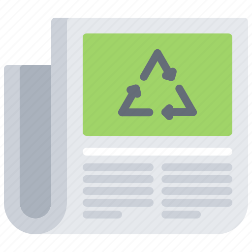 eco, ecology, green, nature, news, newspaper, recycling icon