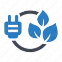 energy, green, power icon