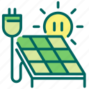 solar panel, eco, clean, electricity, energy, solar, power