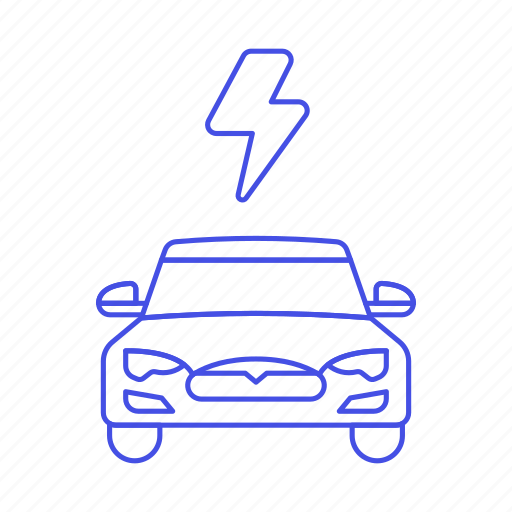 3, battery, car, e, ecology, electric, ev, flash, phev, rechargeable, thunderbolt, transport, vehicles icon