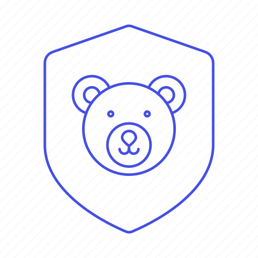 animal, bear, ecology, face, fauna, life, nature, protect, protection, shield, wildlife icon