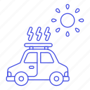 car, eco, ecology, electric, panel, roof, solar, sun, vehicles icon