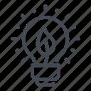 bulb, eco, ecology, energy, lamp, leaf, light