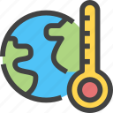 ecology, ecology and environment, temperature, thermometer, world icon