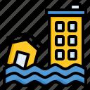 disaster, flood, rain, tsunami