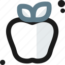 apple, environment, food, fruit, healthy, meal, sin icon