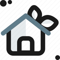 cottage, ecology, environment, green, home, house, lift icon