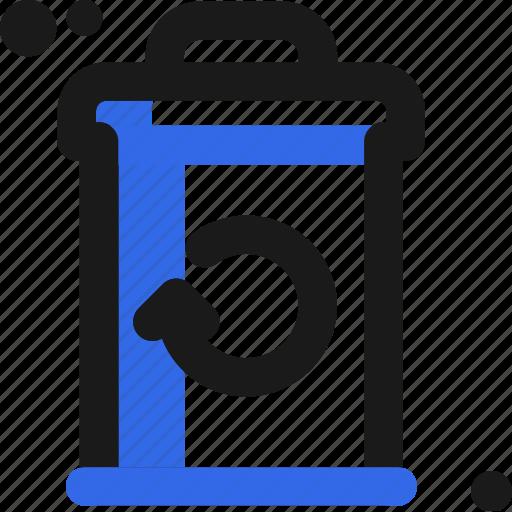 bin, organic, waste icon