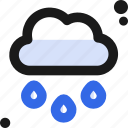 cloud, drops, rain, water, weather icon