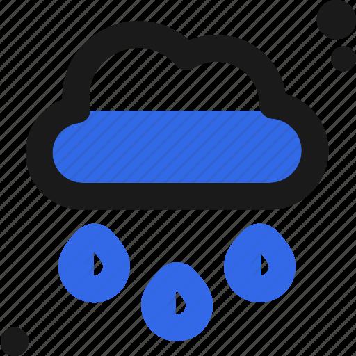 cloud, drops, rain, water, weather icon