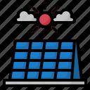solar, cell, cloud, energy, ecology