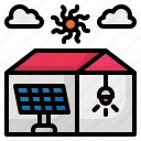 solar, house, cell, home, ecology