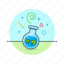 ecology, gmo, leaf, organism, sprout, test, tube icon