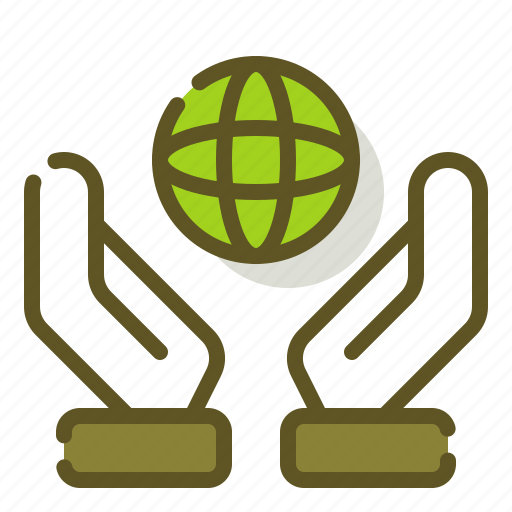 care, earth, ecology, planet icon