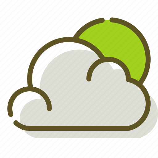 Cloudy, forecast, sun, weather icon - Download on Iconfinder