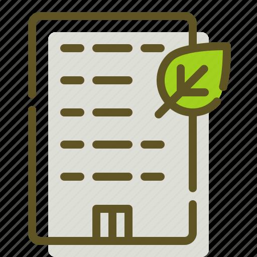 Building, green, leaf icon - Download on Iconfinder