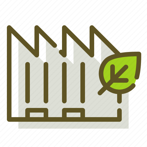 factory, green, leaf, plant icon