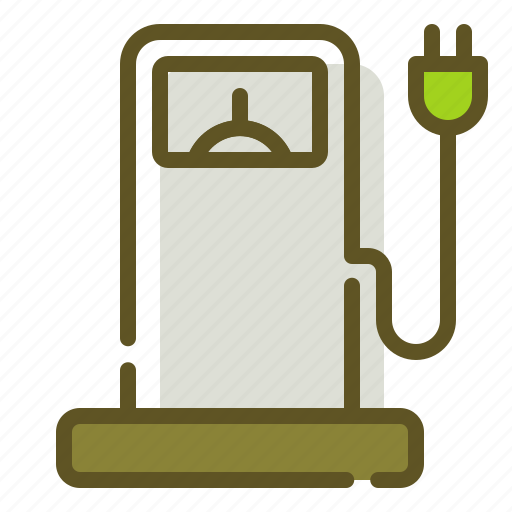 Electric, electricity, fuel, green icon - Download on Iconfinder