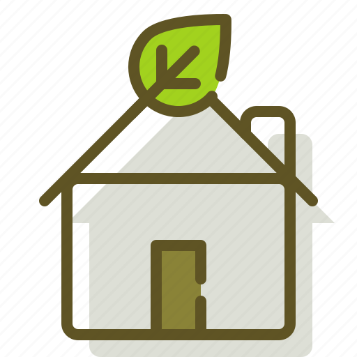 green, home, house, leaf icon