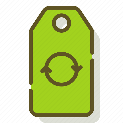 Recycle, reusable, reuse, tag icon - Download on Iconfinder