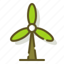 electricity, energy, green, windmill icon