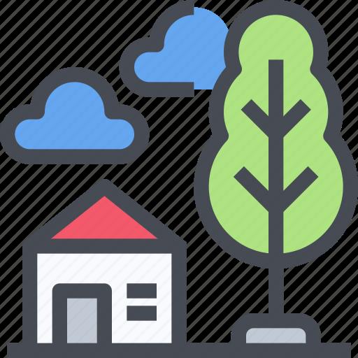 building, construction, eco, estate, home, house icon