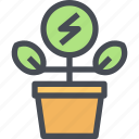 energy, environment, flower, nature, plant icon