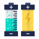 battery, electricity, energy, go green, power icon