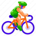 bicycle, ecology, environmental, nature, sport, transportation icon