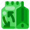 degradable, ecology, environmental, nature, packaging icon