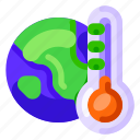 and, earth, ecology, environmental, global warming, nature, thermometer icon