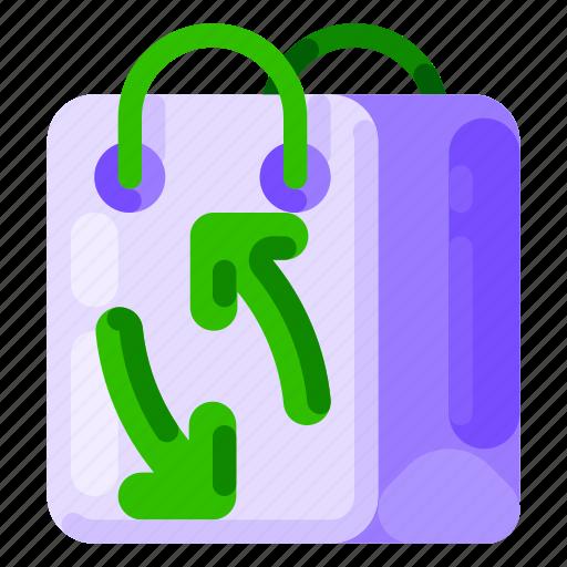 bag, eco, ecology, environmental, nature, shopping icon