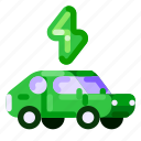 car, ecology, electric, environmental, nature, transportation icon