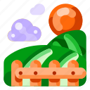 ecology, environmental, field, green, leaf, nature, plant icon
