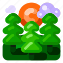 ecology, environmental, forest, green, nature, trees icon