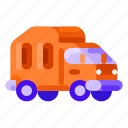 ecology, environmental, garbage, nature, truck icon