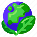 earth, ecology, environmental, globe, green, nature icon