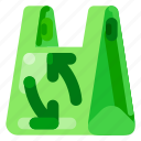 bag, ecology, environmental, nature, plastic, recycle icon
