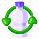 bottle, ecology, environmental, nature, plastic, recycle icon