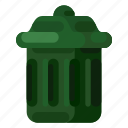 ecology, environmental, nature, recycle bin, trash icon