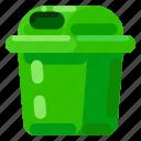 ecology, environmental, nature, trash bin
