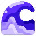 ecology, environmental, nature, ocean, wave icon