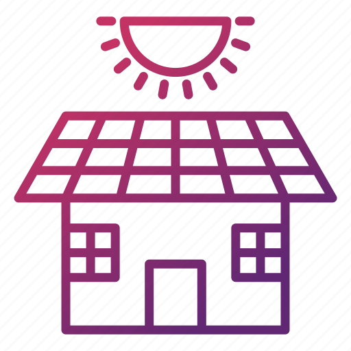 eco, ecology, energy, environment, house, power, solar panel icon