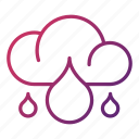 cloudy, ecology, rainy, weather icon