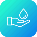 ecology, environment, hand, save, water icon