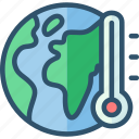 earth, global, planet, temperature, warming icon