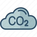 air, co2, emissions, environmental, pollution icon