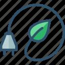 bio, eco, electricity, energy, green icon